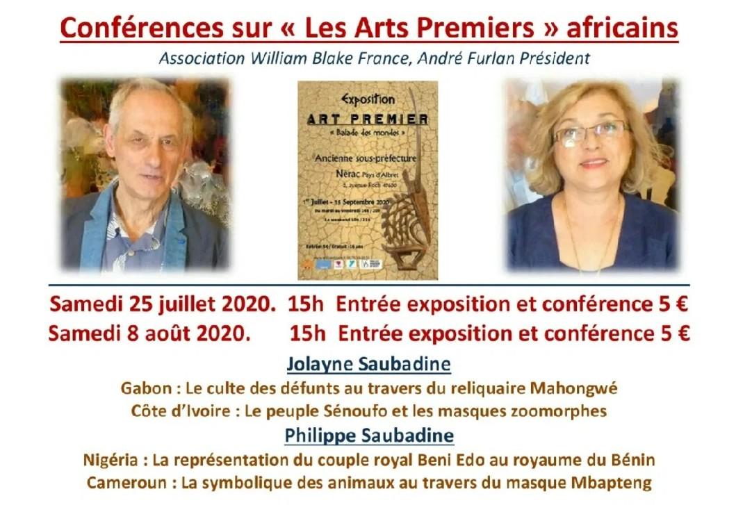 Affiche conférencqe Jolayne et Philippe Saubadine Nerac 2020