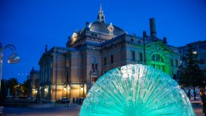 Fountain at Nationaltheatret (National Theatre) by Steven Michael Martin