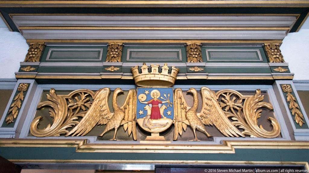 Saint Hallvard Inside doorway of Oslo Cathedral by Steven Michael Martin