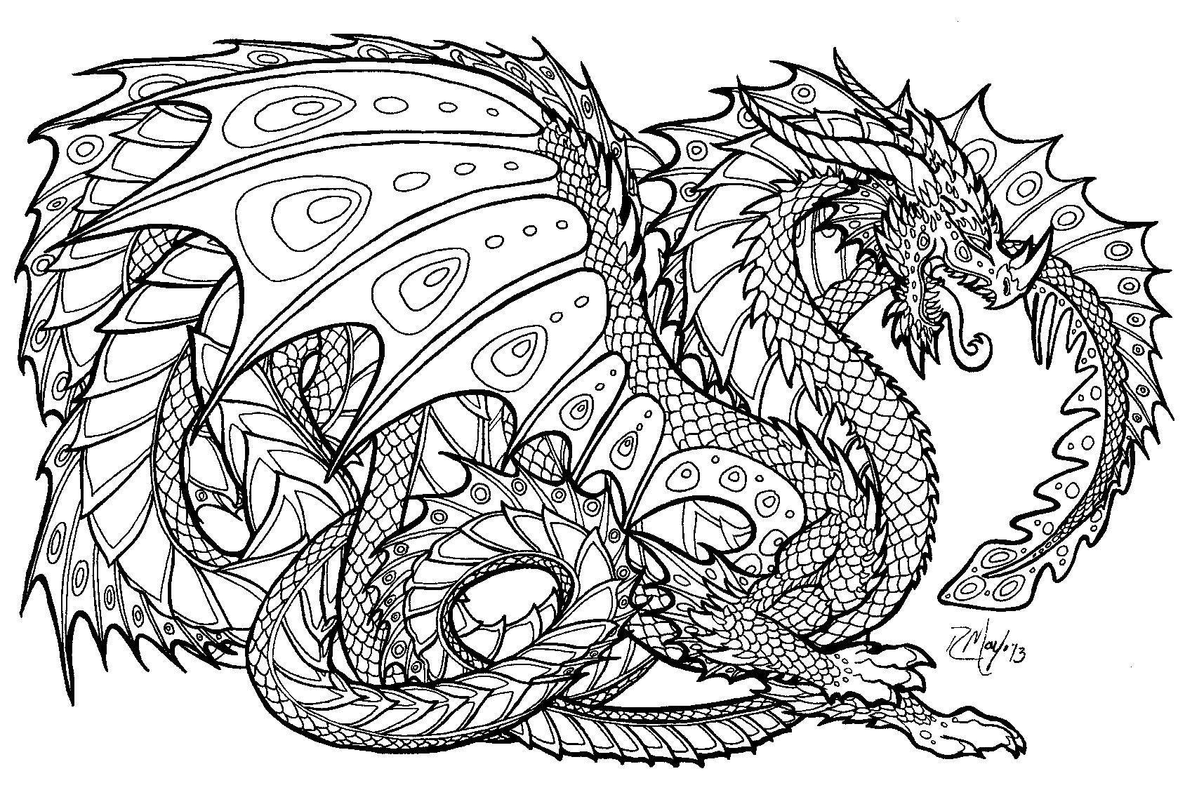 Coloriage Dragon 148404 Personnages Album De Coloriages