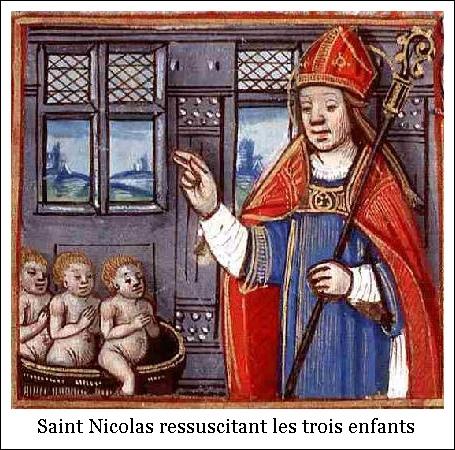 Saint Nicolas ressuscitant les trois enfants