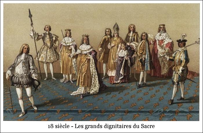 18 siècle – Les grands dignitaires du sacre