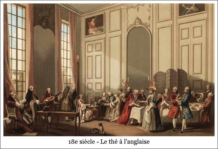 18e siècle – Le thé à l'anglaise