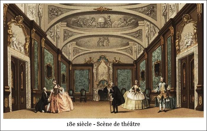 18e siècle – Scène de théâtre