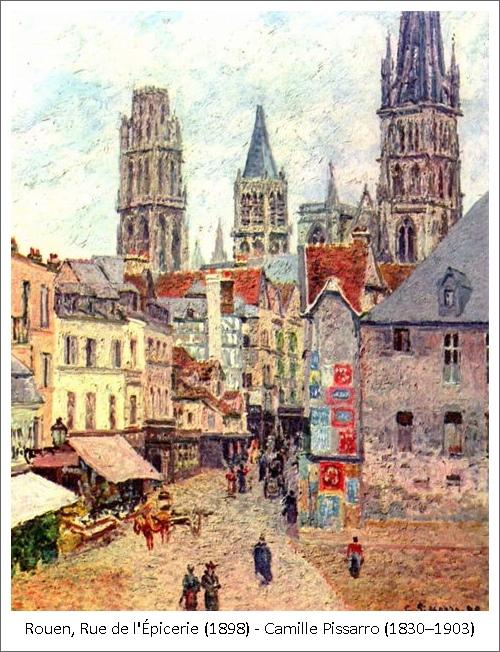 Rouen, Rue de l'Épicerie (1898) – Camille Pissarro (1830–1903)