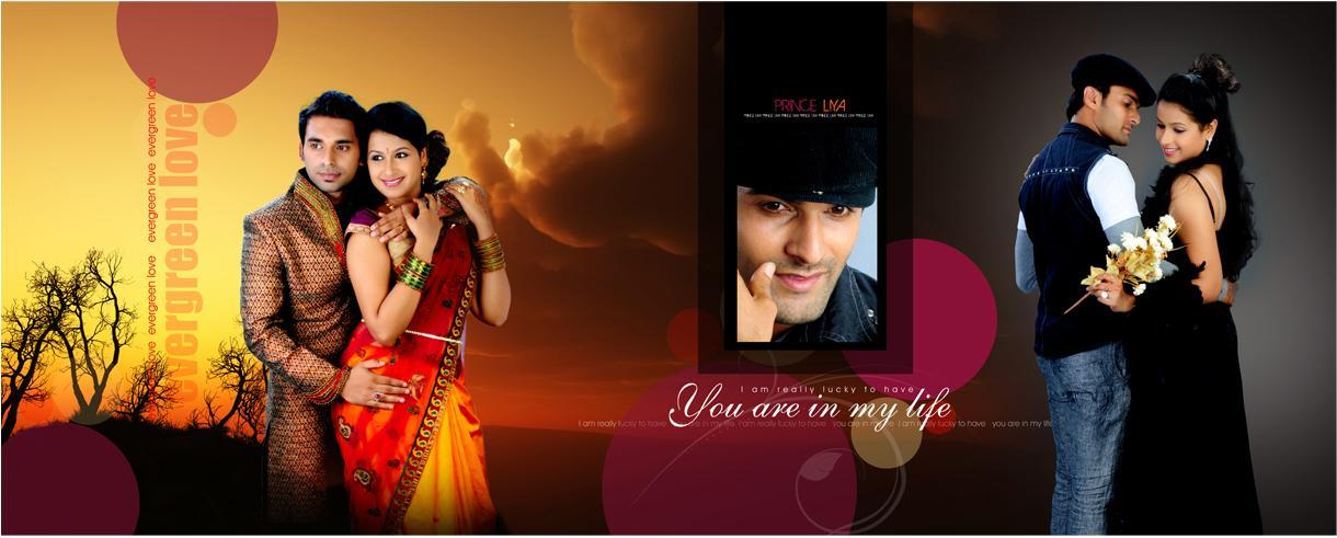 wedding couple creative albumkart