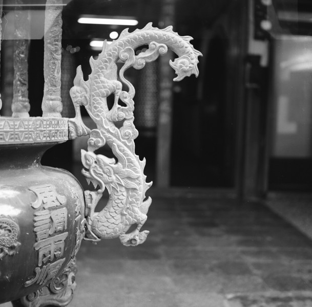 2016-07-30 - Follow the dragon - Shanghai GP3100 shot at EI 100. Black and white negative film in 120 format shot as 6x6.