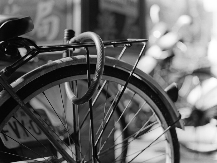 Secured - Kodak Tri-X 400 shot at EI 800. Black and white negative film in 120 format as 6x4.5. Push processed one stop.