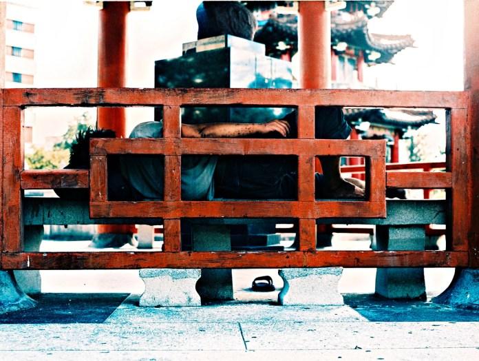 R n' R - Fuji Provia 100F (RDP III) shot at EI 200. Color reversal (slide) film in 120 format shot as 6x4.5. Cross processed.