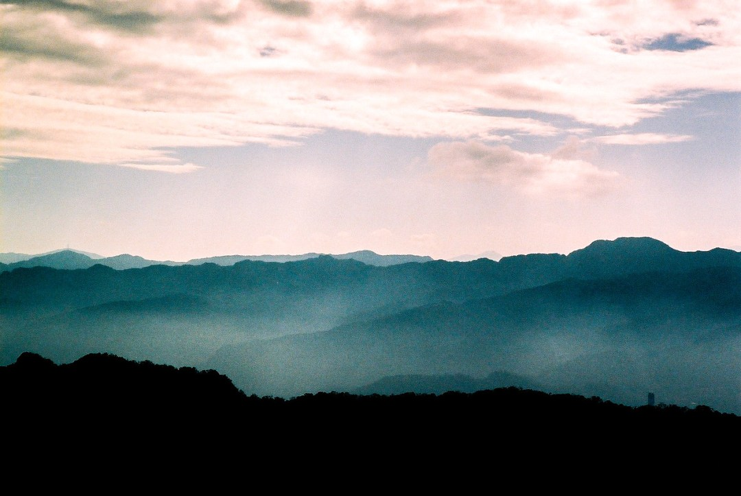 Misty Mountains - Kodak Portra 160NC shot at ISO100. Color negative film in 35mm format.