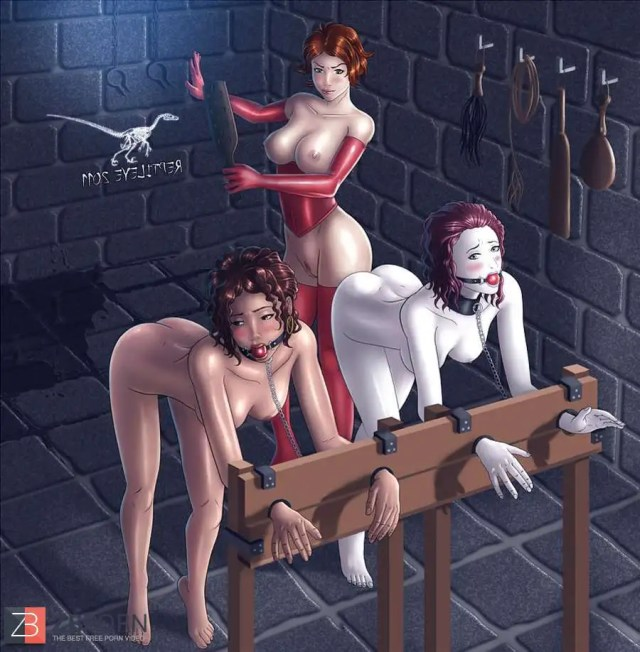 Sexy Hentai And Immense Jug Girls In Restrain Bondage By Reptileye