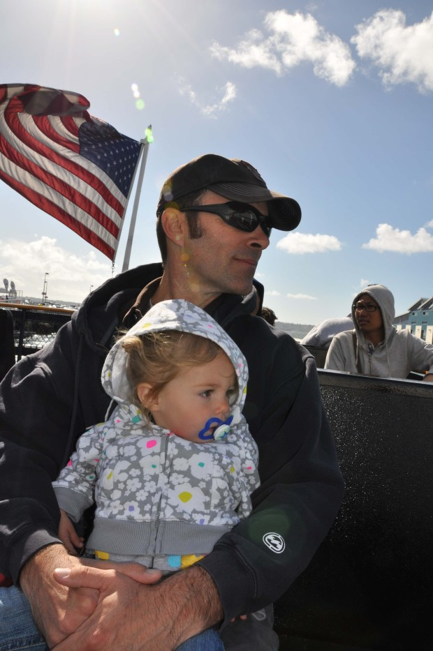 Daddy with L.L. on the Ferry to Coronado