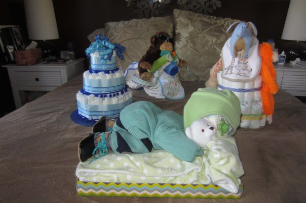 Diaper Cakes - they pulled out all the stops!