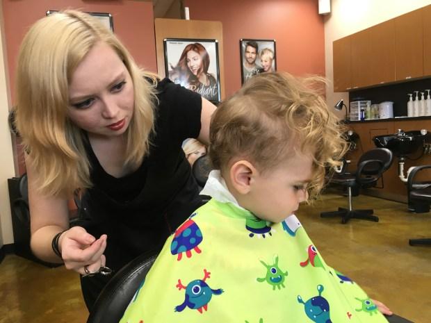 blending the short hairs