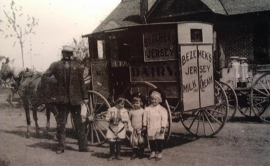 Bezemek Dairy Wagon - Albuquerque Historical Society
