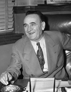 Clyde Tingley at his desk, 1945. Courtesy The Albuquerque Museum Photo Archives, PA 1986.4.11.