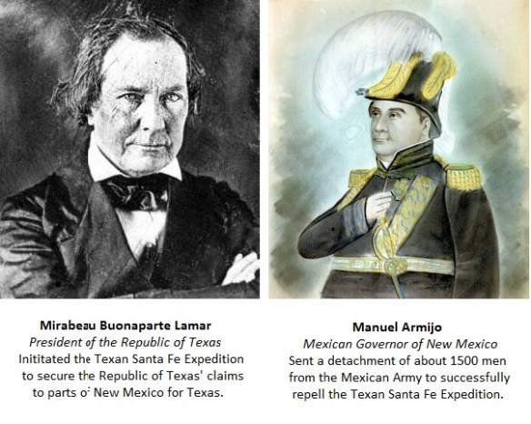 Picture of Republic of Texas President and Mexican Governor of New Mexico