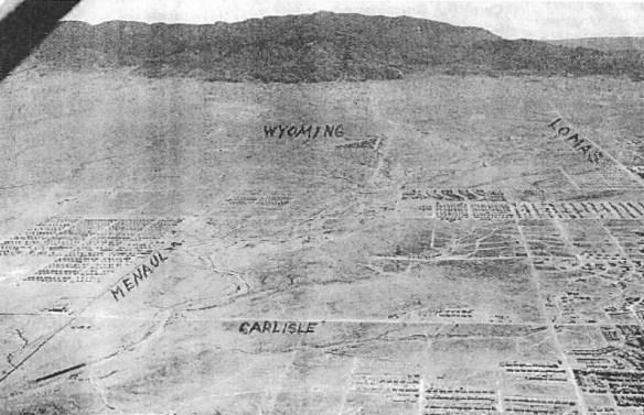 Aerial photograph of the Albuquerque NE Heights c.1949-50.