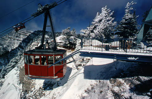 Picture of original Sandia Peak Tram Car