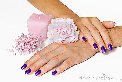 manicure-pink-flower-candle-beads-thumb10920046