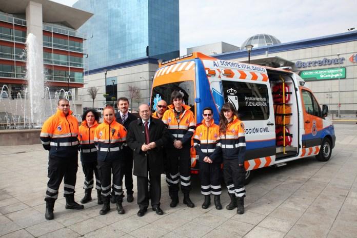 ambulancia proteccion civil fuenlabrada