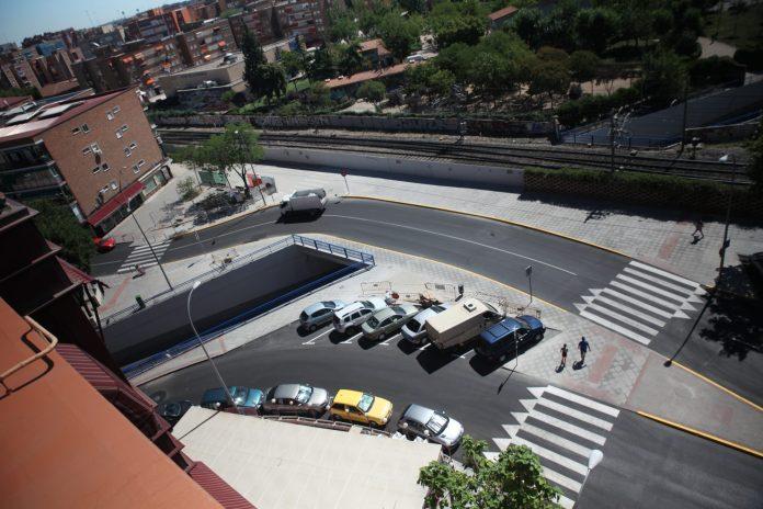 TUNEL PUENTE PASEO ROMA CALLE MOSTOLES TRAS OBRAS TERMINADO (37)