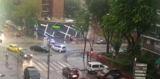 lluvia corte calle fuenlabrada