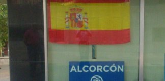 bandera alcorcon espana