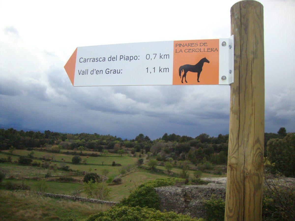 Turismo ecuestre en el Bajo Aragón - Foto de http://cerollera.com