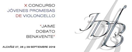 X concurso jóvenes promesas de violoncello Jaime Dobato Benavente en Alcañiz