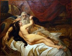 """""""Davi e Abisag"""" (Pedro Américo). Museu Nacional de Belas Artes"""