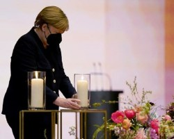 Alemania rinde homenaje a las casi 80 mil víctimas de la COVID-19
