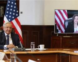 AMLO conversa con vicepresidenta de Estados Unidos, Kamala Harris