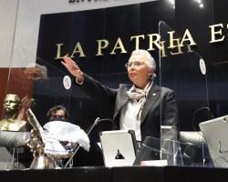 Olga Sánchez Cordero rinde protesta como presidenta del Senado