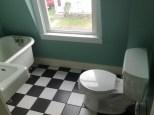 Tiny bathroom from doorway