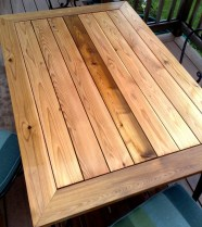 Cedar table, sealed