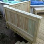 Solid panel guard rails