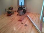Boothby Maple Flooring - installation in progress