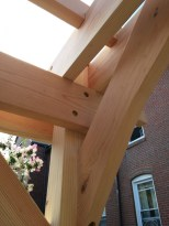 Douglas Fir Pergola - Corner construction