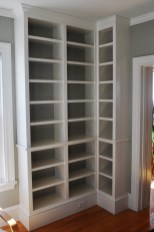 Built-In Bookshelves - Painted and ready to load