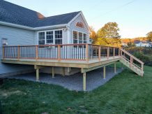 Large Deck in South Portland - Side View