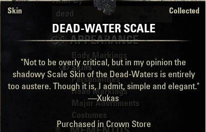 Dead Water Skin eso