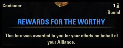 Cyrodiil Beginner Guide Rewards for the Worthy