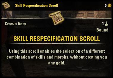 Morphing Guide Skill Respec Scroll Nara