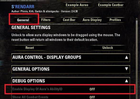 ability ID Srendarr addon