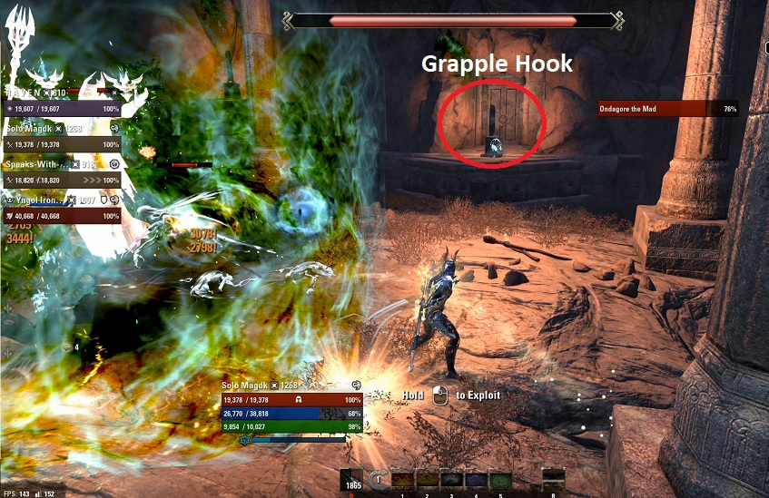 Boss 4 Unhallowed Grave grapplilng hook