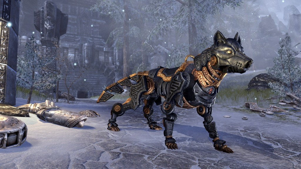 ESO Greymoor_Ebon Dwarven Wolf Mount_Antiquities