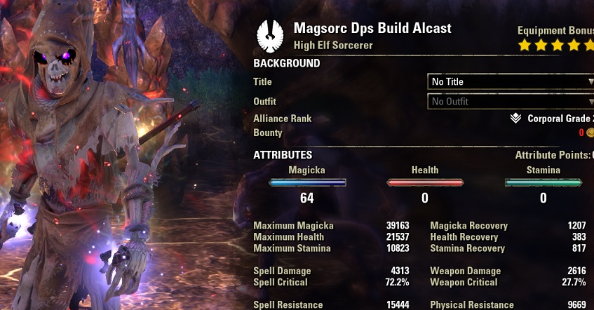 Magicka Sorcerer Pet Setup buffed stats ESO