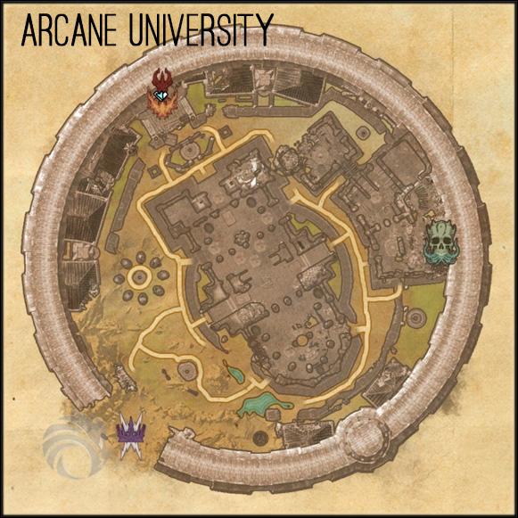 map arcane university