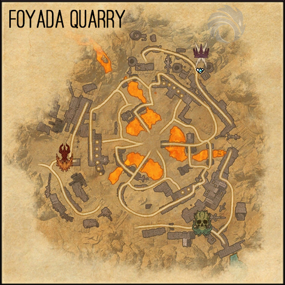 map foyada quarry